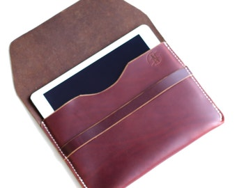 Zion iPad Case// Large Leather iPad Case// Leather iPad Sleeve