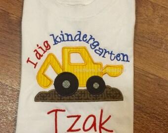 I Dig Kindergarten appliqué Shirt