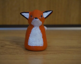 Small clay fox figurine