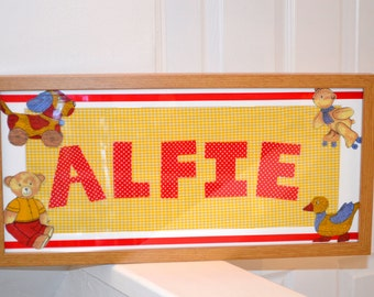 Childrens Name Frame, Personalised Frame for kids, Name in Frame, Name Picture Frame, Personalised Wall Frame, Baby Name Frame, Newborn Gift