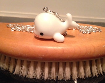 Cute Whale Beluga Necklace ocean sea nautical