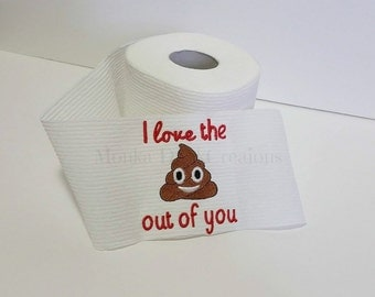 Funny Birthday Gift - Funny Gift for Boyfriend - Gift For Husband - Gift For Wife - Embroidered Toilet Paper - Gift for Dad - Gag Gift