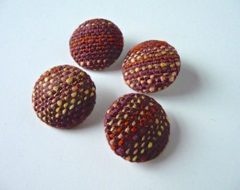 Buttons made from my Handwoven Fabric