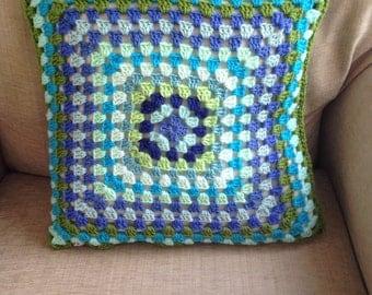 Granny Square Soft Crochet Cushion Cover