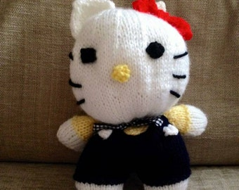 Hello Kitty Hand Knitted Soft Toy