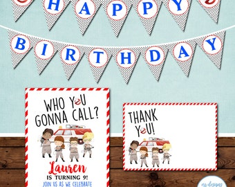 Ghostbusters Party Package, Ghostbusters Birthday Party Invitation, Girl Ghostbusters Invite