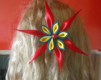 kanzashi flower ponytail holder