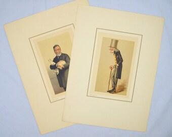 Choice of Vintage Print by Petrolagar Laboratories, Louis Pasteur or Sir Richard Owen, 1930s Scientist Caricature