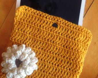 Crochet iPad Case-Yellow