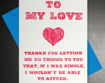 To my Love: Able to afford