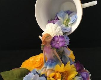 Flower Fairy Teacup-Purple Fairy