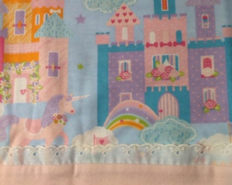 Unicorn Castle flannel Pillowcase