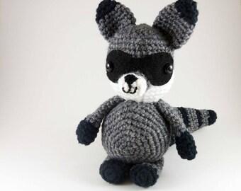 Amigurumi Raccoon, Crocheted Handmade Raccoon