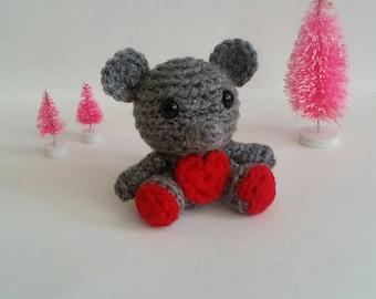 Crochet Mini Mouse Plush Amigurumi Preschooler Toy