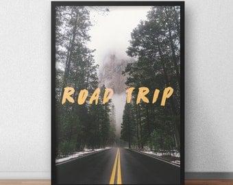 Road Trip, Original Art Print, Poster Wall Art, High Quality Print, Wall Decor