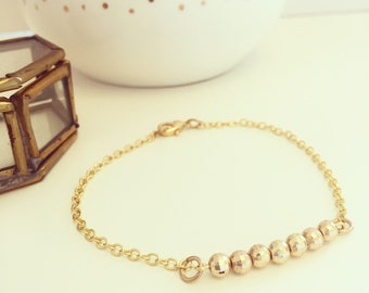 Gold Plated Disco Ball Bead Bracelet