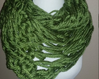 Thick Green Knit Scarf