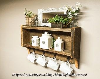 Bathroom Wall Shelf, Wood Bathroom Shelf, Bathroom Shelving, Bathroom Shelf  Unit, Bathroom
