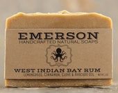 Bay Rum Soap with Lime, Cinnamon, Clove & Lemongrass • Palm Free Soap, All Natural Soap, Vegan Soap, Cold Process Soap, Valentine's Day Gift
