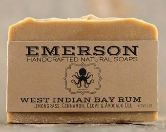 Bay Rum Soap • Palm Free Soap, Vegan Soap, All Natural Soap, Handmade Soap, Cold Process Soap, Palm Free Soap, Avocado Soap