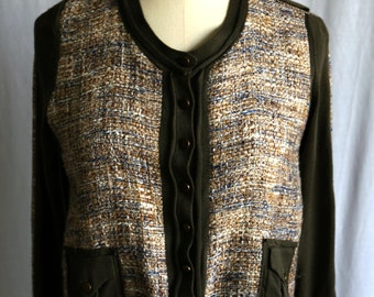 80s RESTORED upcycled cardigan size Small