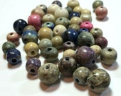 Mixed stone beads - assorted sizes and color (95 beads)