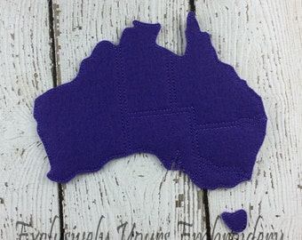 Australia Puzzle w/Storage Pouch, Quiet Game, Toddler Toy, Travel Toy, Party Favor