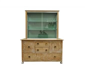 10% Off Sale! Vintage Mid Century Modern Art Deco Cerused Oak China Display Cabinet James Mont