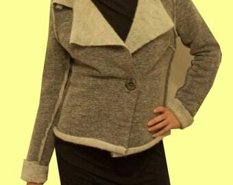 SALE 50% jacket jersey 100% wool