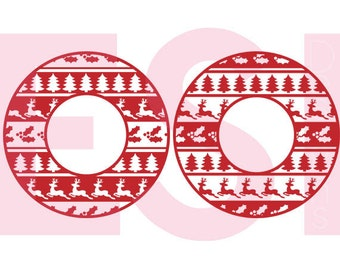 Ugly Sweater svg, Christmas monogram svg, SVG, DXF, EPS, Christmas svg files, for use with Silhouette Cameo and Cricut Explore, Circle frame