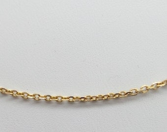 Solid 18 k rose gold cable link finished chain, 3 stranded 18 inches long. Made in Italy. IGC320