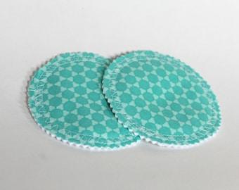 Nursing Pads, Teal Nursing Pads, Washable Nursing Pads, Nursing Pads for Breastfeeding, Teal Dot Nursing Pads, Teal Polka Dot Pads