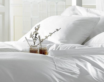 White Bamboo Sheets Queen Size - 100% Bamboo, Softest Sheets in the World by Fiber Element™