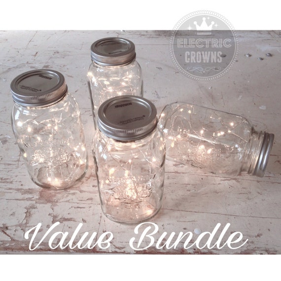 5 Fairy Lights for Mason Jars or Centerpieces by ElectricCrowns