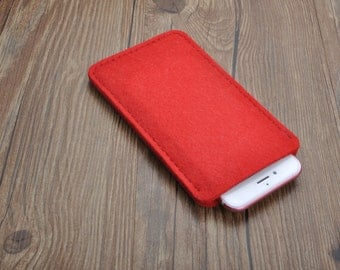 Handmade felt   sleeve cover for iPhone 5s 5c 6 6s plus
