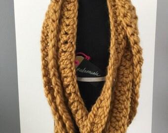 Twisted Trio Crocheted Scarf