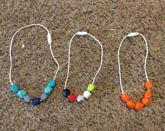 Baby Teething bead necklaces