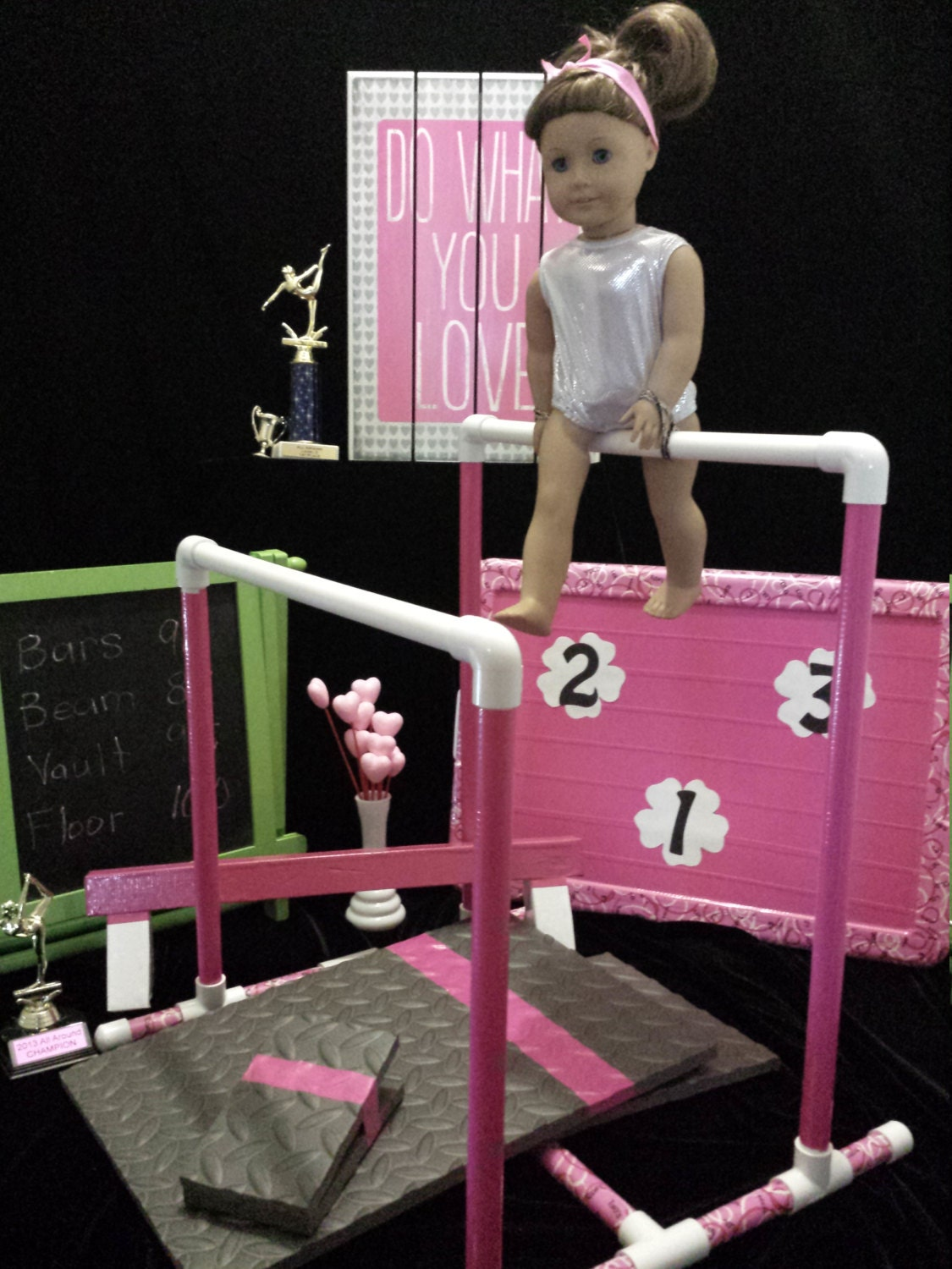 Complete Competition Gymnastic Set For American Girl Doll