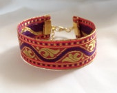 Festival Bracelet - Hippy / Boho Bracelet - Sari Ribbon Bracelet - Folk Bracelet - Indian Sari Ribbon Bracelet - Cuff Bracelet -