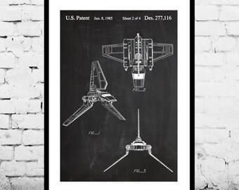 Imperial Shuttle Poster, Imperial Shuttle Patent, Imperial Shuttle Print, Imperial Shuttle Art, Imperial Shuttle Decor
