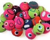 Squeezy monster bean bag for stimming and grounding