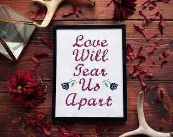 Joy Division Love Will Tear Us Apart Cross Stitch