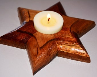 Timber Tealight candle holder - Artisan