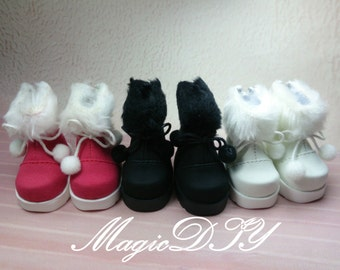1/6 BJD Boots/Shoes Yosd Lolita Dollfie White/Red/Black