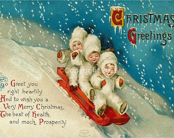 vintage postcard / a4 image