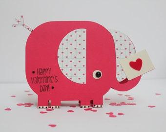 Valentine Card: Elephant Love
