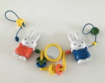 vintage nijntje / miffy stroller toy