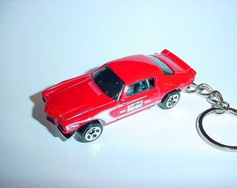 3D 1970 Chevrolet Camaro Z28 custom keychain by Brian Thornton keyring key chain finished in champion red