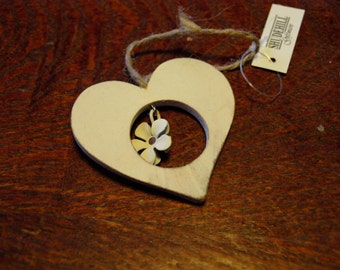 Heart Shape with Flower in Middle Plaque