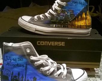 hand painted converse wedding shoes, custom wedding shoes, custom converse shoes